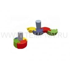 Детский игровой диван  «Пазл»